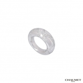 Chaumet White Gold Diamond Dress Ring